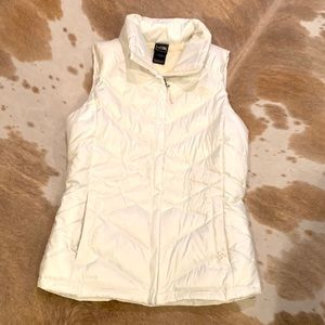 North Face White Puffy Vest Size Small